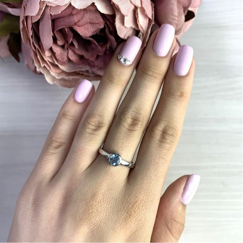 Серебряное кольцо SilverBreeze с натуральным топазом (2018872) 18.5 размер