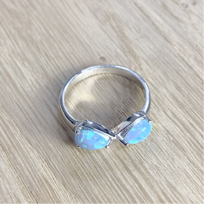 Серебряное кольцо SilverBreeze с опалом (1839256) 17.5 размер