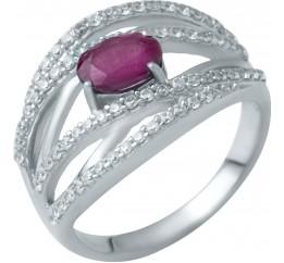 Серебряное кольцо SilverBreeze с натуральным рубином (1946985) 17 размер