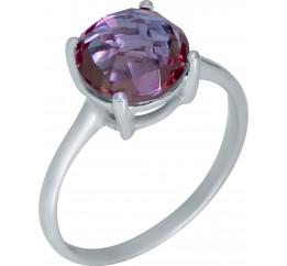 Серебряное кольцо SilverBreeze с Султанит султанитом (1948477) 17.5 размер
