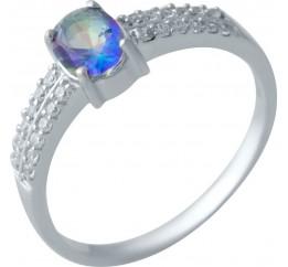 Серебряное кольцо SilverBreeze с натуральным мистик топазом (2017233) 18.5 размер