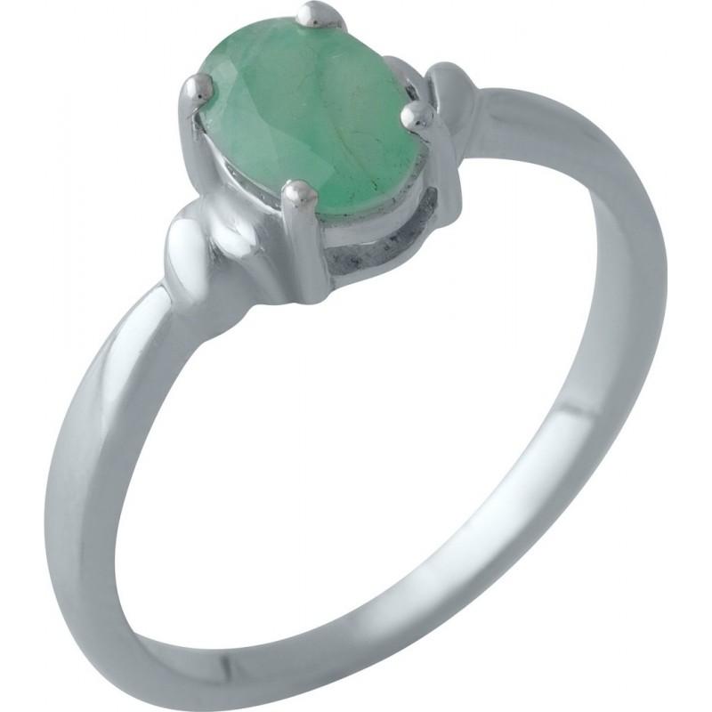 Серебряное кольцо SilverBreeze с натуральным изумрудом (2011149) 18 размер