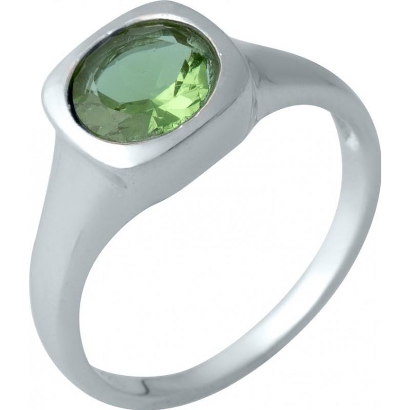 Серебряное кольцо SilverBreeze с Султанит султанитом (1990209) 18.5 размер