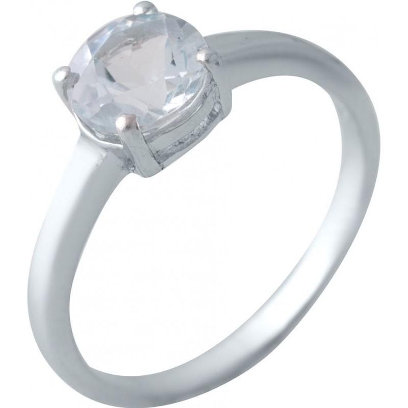 Серебряное кольцо SilverBreeze с натуральным топазом (2018933) 17 размер