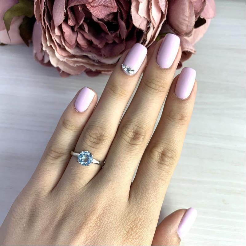 Серебряное кольцо SilverBreeze с натуральным топазом (2018933) 16.5 размер