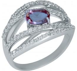 Серебряное кольцо SilverBreeze с Султанит султанитом (1948538) 18.5 размер