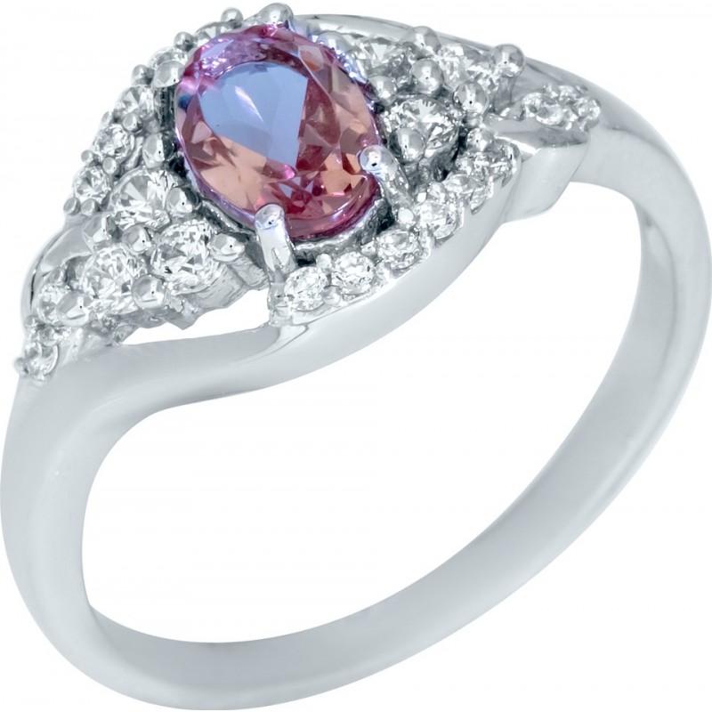 Серебряное кольцо SilverBreeze с Султанит султанитом (1948569) 18 размер