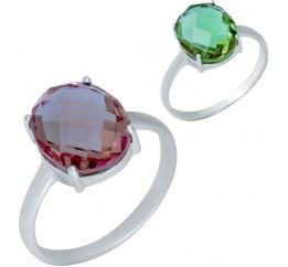 Серебряное кольцо SilverBreeze с Султанит султанитом (1948583) 18 размер