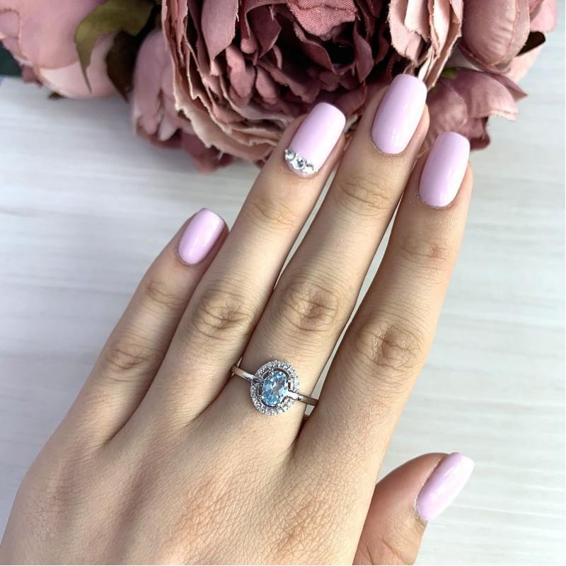 Серебряное кольцо SilverBreeze с натуральным топазом (2018971) 17.5 размер