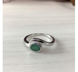 Серебряное кольцо SilverBreeze с натуральным изумрудом (2011088) 18 размер