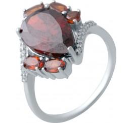 Серебряное кольцо SilverBreeze с натуральным гранатом (2017318) 18.5 размер