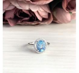 Серебряное кольцо SilverBreeze с натуральным топазом (2019015) 18 размер