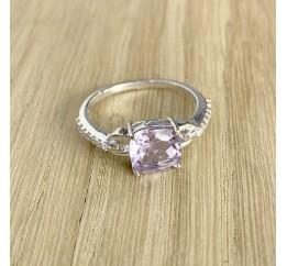 Серебряное кольцо SilverBreeze с натуральным аметистом (1969663) 18 размер