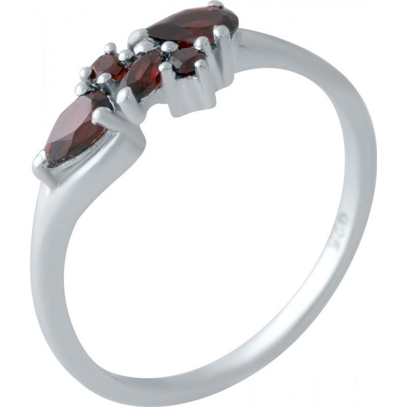 Серебряное кольцо SilverBreeze с натуральным гранатом (2017417) 17 размер
