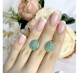 Серебряное кольцо SilverBreeze с натуральным изумрудом (1234709) 17 размер