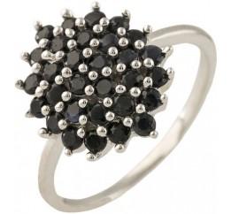 Серебряное кольцо SilverBreeze с натуральным сапфиром (1239216) 17 размер