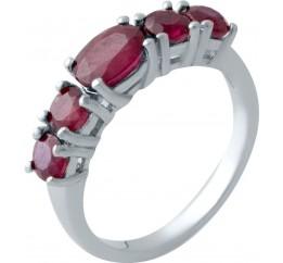 Серебряное кольцо SilverBreeze с натуральным рубином (2021421) 17.5 размер