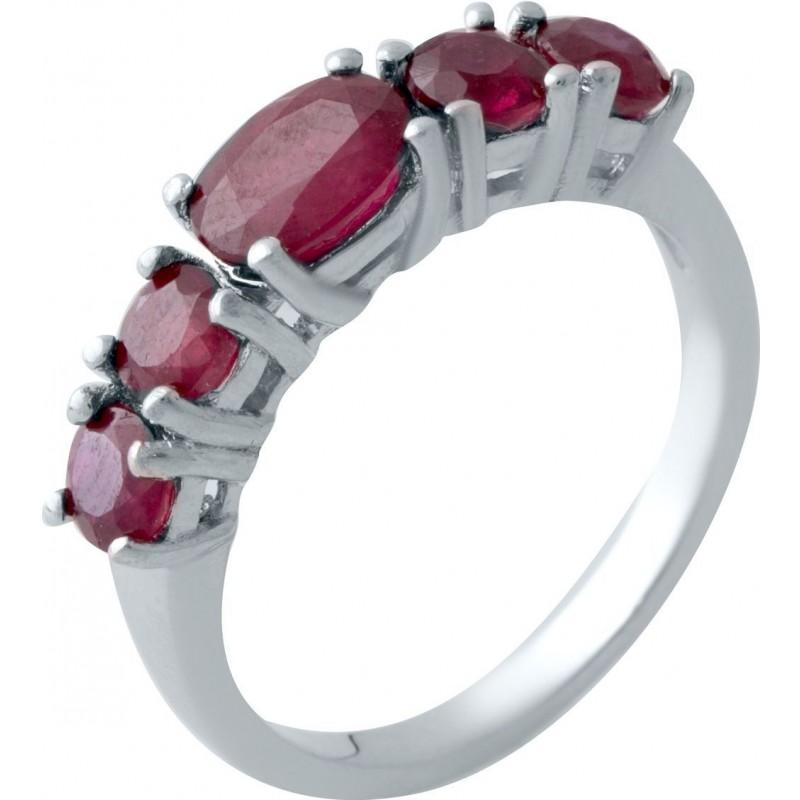 Серебряное кольцо SilverBreeze с натуральным рубином (2021421) 17 размер