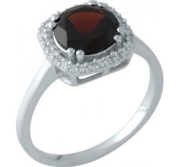Серебряное кольцо SilverBreeze с натуральным гранатом (1951620) 18 размер