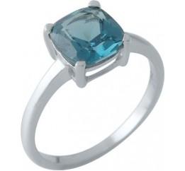 Серебряное кольцо SilverBreeze с натуральным топазом Лондон Блю (1970577) 18 размер