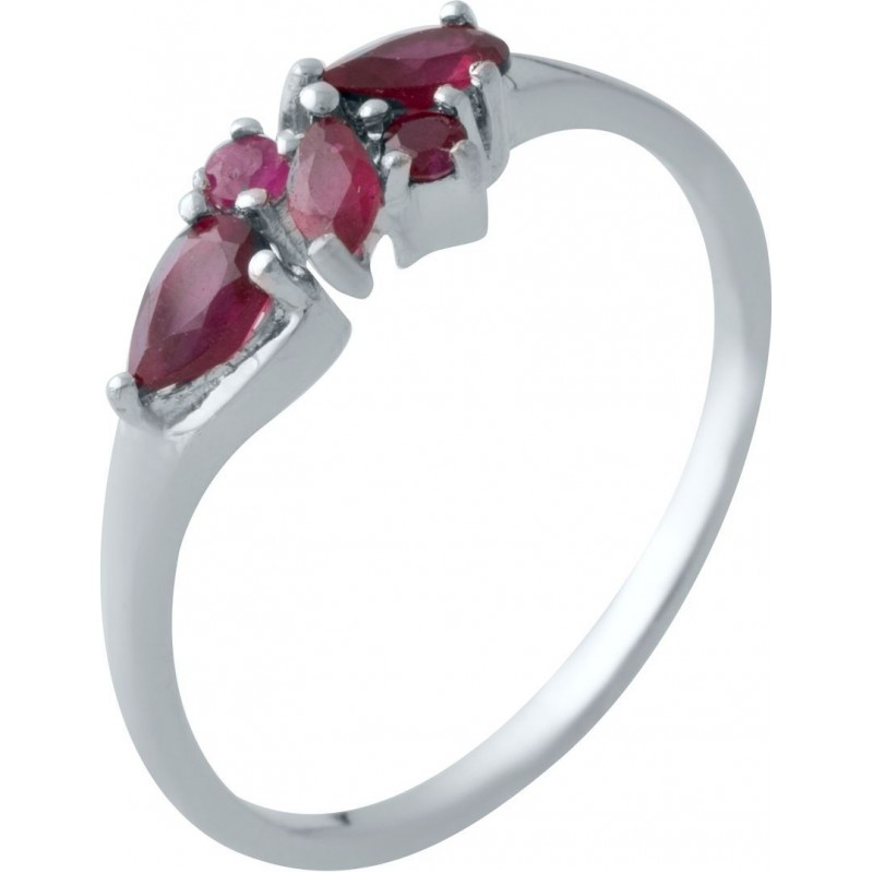 Серебряное кольцо SilverBreeze с натуральным рубином (2021490) 18.5 размер