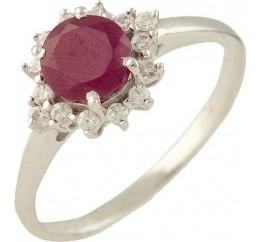 Серебряное кольцо SilverBreeze с натуральным рубином (1248836) 16.5 размер