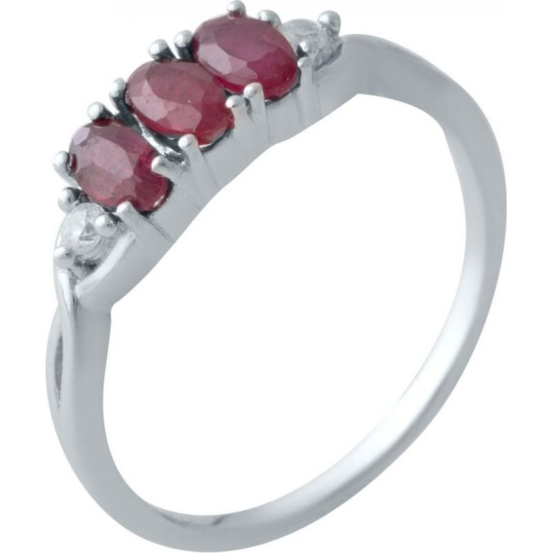 Серебряное кольцо SilverBreeze с натуральным рубином (2019268) 16.5 размер