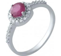 Серебряное кольцо SilverBreeze с натуральным рубином (2021513) 16.5 размер