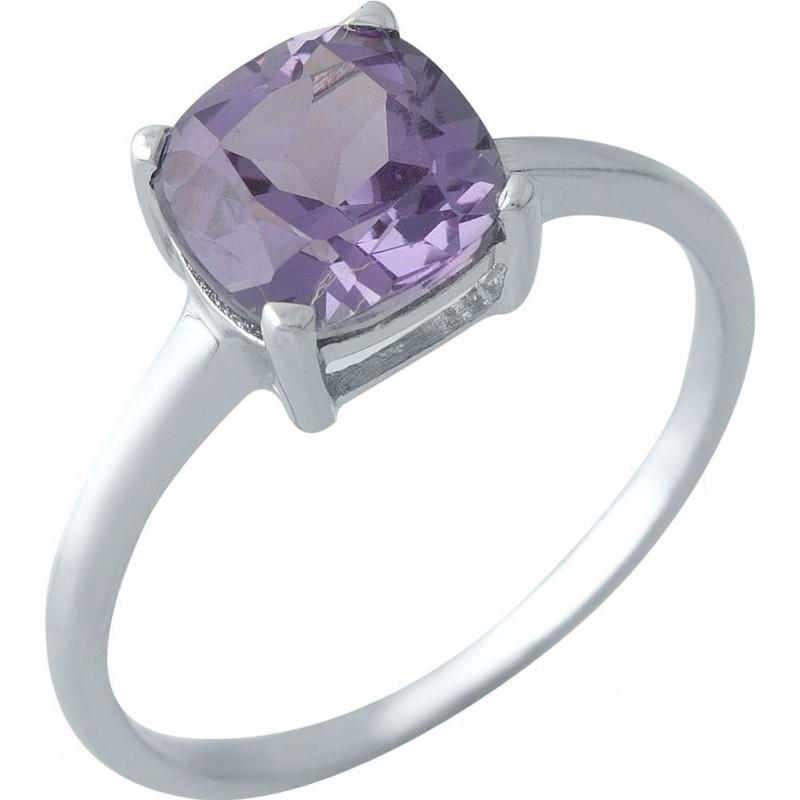 Серебряное кольцо SilverBreeze с олександритом (1971543) 17.5 размер