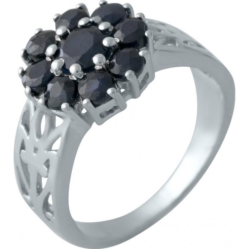 Серебряное кольцо SilverBreeze с натуральным сапфиром (2008828) 17.5 размер