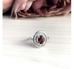 Серебряное кольцо SilverBreeze с натуральным гранатом (2019312) 17 размер
