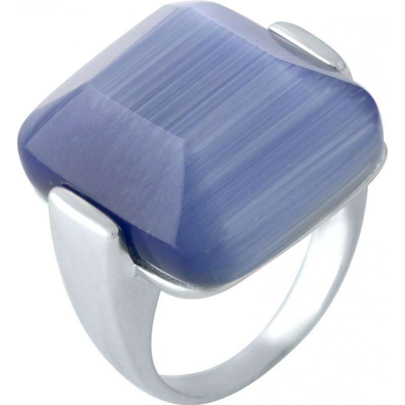 Серебряное кольцо SilverBreeze с кошачим глазом (1955505) 18 размер