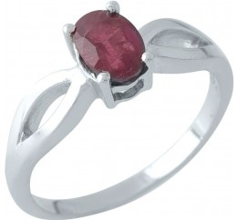 Серебряное кольцо SilverBreeze с натуральным рубином (1972083) 18 размер