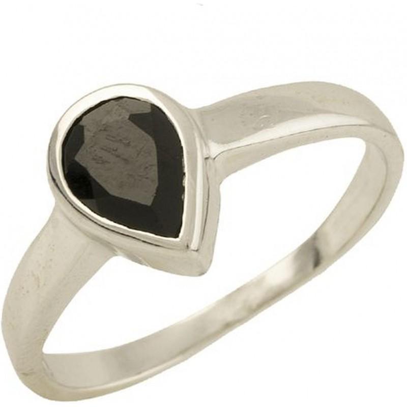 Серебряное кольцо SilverBreeze с натуральным сапфиром (1302255) 16.5 размер
