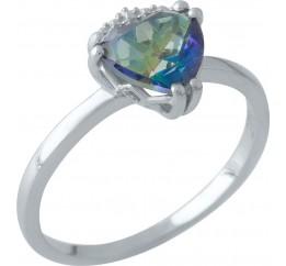 Серебряное кольцо SilverBreeze с натуральным мистик топазом (1972298) 18.5 размер