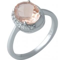 Серебряное кольцо SilverBreeze с морганитом nano (1997178) 17.5 размер