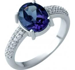 Серебряное кольцо SilverBreeze с олександритом (1912126) 17.5 размер
