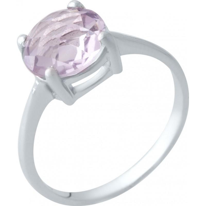 Серебряное кольцо SilverBreeze с натуральным аметистом (2019381) 17 размер