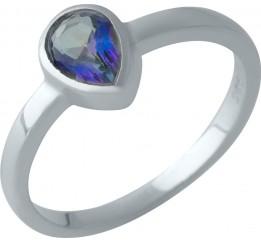 Серебряное кольцо SilverBreeze с натуральным мистик топазом (2004356) 18 размер