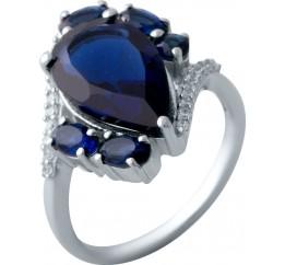 Серебряное кольцо SilverBreeze с сапфиром nano (2021766) 17.5 размер