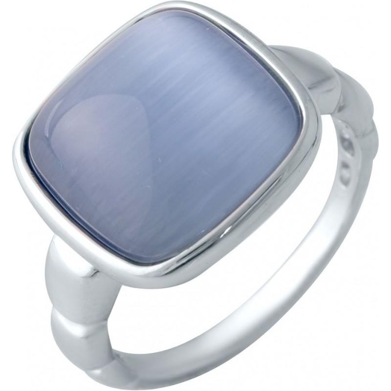 Серебряное кольцо SilverBreeze с кошачим глазом (2015147) 17.5 размер