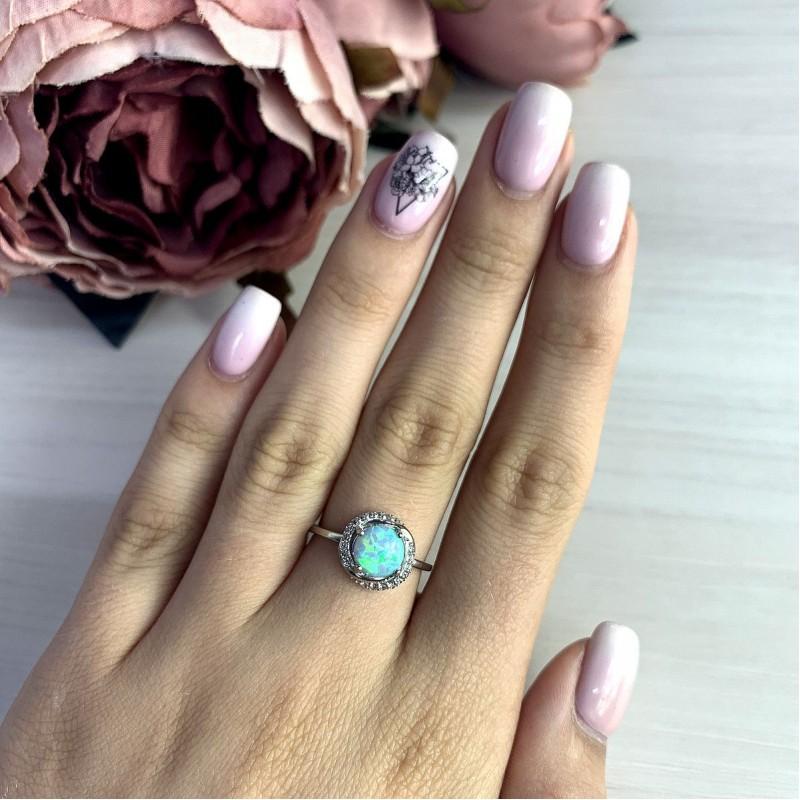Серебряное кольцо SilverBreeze с опалом (1999233) 18 размер