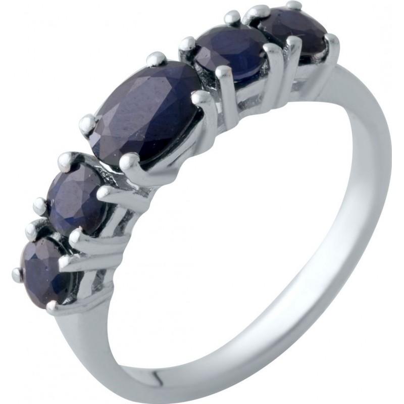 Серебряное кольцо SilverBreeze с натуральным сапфиром (2021810) 18.5 размер
