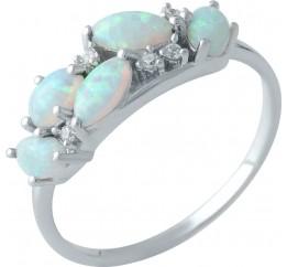 Серебряное кольцо SilverBreeze с опалом (1998847) 18.5 размер