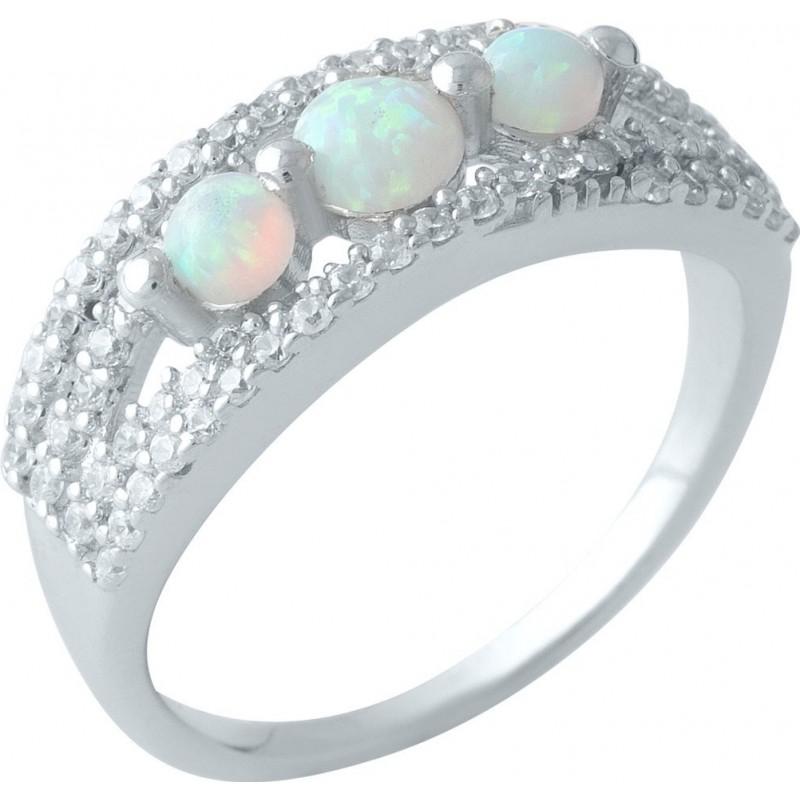 Серебряное кольцо SilverBreeze с опалом (1998915) 17.5 размер