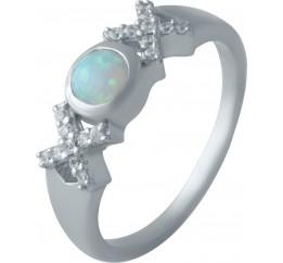 Серебряное кольцо SilverBreeze с опалом (2012139) 18.5 размер