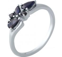 Серебряное кольцо SilverBreeze с натуральным сапфиром (2021865) 18 размер
