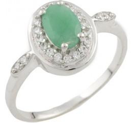 Серебряное кольцо SilverBreeze с натуральным изумрудом (0466262) 16 размер