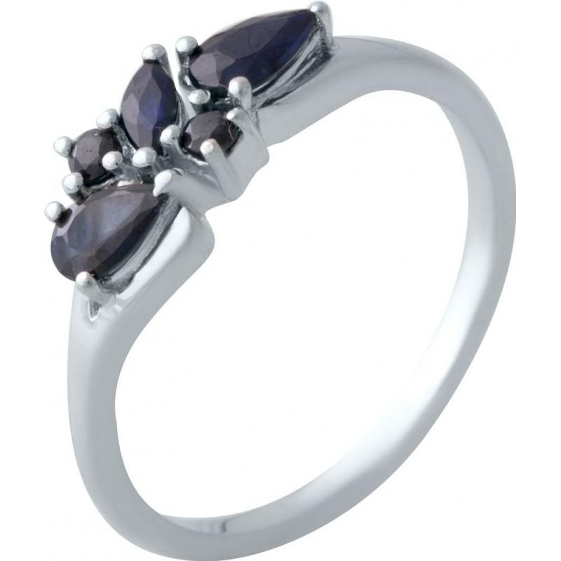 Серебряное кольцо SilverBreeze с натуральным сапфиром (2021865) 17 размер