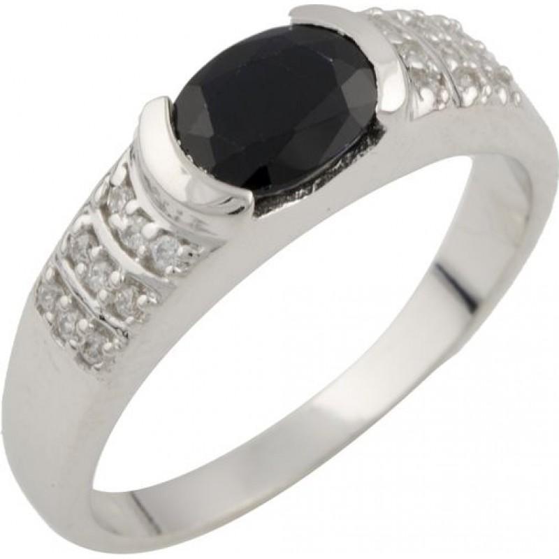 Серебряное кольцо SilverBreeze с натуральным сапфиром (0467207) 16.5 размер
